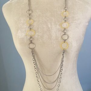 Paparazzi NWT yellow hoop necklace